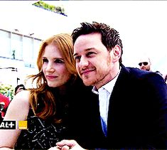 James McAvoy with Jessica Chastain at Cannes 2014