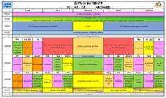 Contribution d'Agnès : Emploi du temps PS-MS-GS (La classe de Jenny)