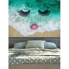 Wall Hangings Sea Wave Eyelash Lip Print Tapestry