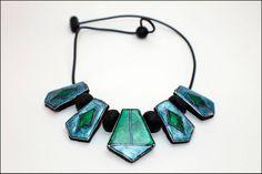 Collares con dijes - Collar Amuleto 02. Col. Esmaltado. - hecho a mano por elenapglc en DaWanda