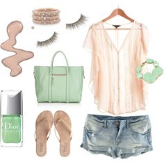 SeaFoam & BalletPink. Love this whole outfit.