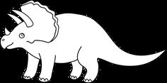 Triceratops Outline Images & Pictures - Becuo  for shirt? With ballon on tail. ...looks like her game i made!