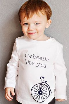 Boy or girl Valentine's shirt that's great for the rest of the year. Wheelie like you