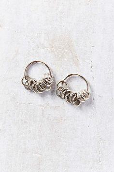 Many Rings Hoop Earring - Urban Outfitters
