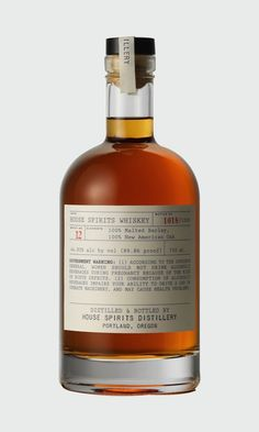 """I love these labels designed for House Spirits Distillery by American designer Julia Blackburn for their aptly named 'Apothecary Line'. """"Label design for the House Spirits Distillery's """"Apothecary . Whiskey Label, Whiskey Brands, Whiskey Cocktails, Whiskey Bottle, Bottle Packaging, Bottle Labels, Bottle House, Vodka, Whiskey Distillery"""