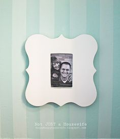 DIY frame tutorial using MDF and a dollar store simple frame on the back side