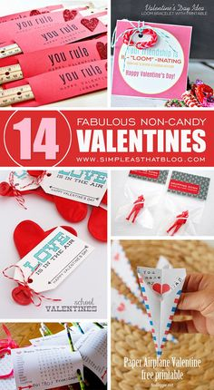 14 Fabulous Non-Candy Valentine Ideas We love these ideas - how fun for your kid's class! www.getwaytoday.com