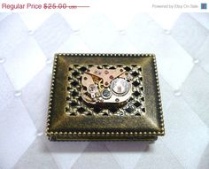 Sale 25 Off Steampunk Treasure Box by Treasurebay on Etsy, $18.75