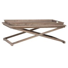 Caprice Rectangular Coffee Table in Grey Toned Finish
