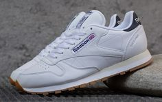 Reebok Classic Leather | White, Navy & Gum