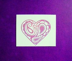 I actually envision this in wire... paisley heart clear polymer stamp by sugarskull7 on Etsy