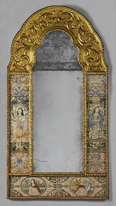 Mid to late1600s  Culture: British Medium: Silk stumpwork embroidery ... 17th century mirrors - Bing Images
