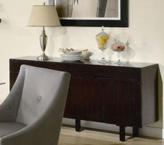 Coaster Alvarado Buffet Server in Cappuccino Finish