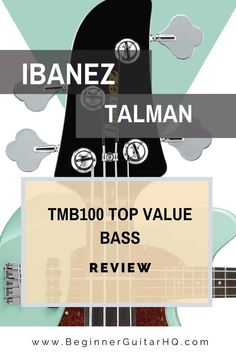 Today's article is reviewing the famous Ibanez Talman TMB100 budget bass guitar for beginners. We've chosen an Ibanez bass or electric guitar on most of our top 10 charts, so I think it's time to dedicate another review to this revered brand. Geezer Butler, Guitar Reviews, Leo Fender, Guitar For Beginners, Ibanez, Acoustic Guitar, Charts, Bass, Things To Think About
