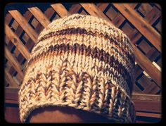 Hand Knit Large Slouchy Beanie in Creme with by LilRedKnittingHood, $22.00