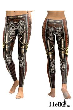 Designed with premium high quality material, Light-weight, flexible and move with you every step. Steampunk Leggings, Steampunk Gears, Everywhere You Go, Best Leggings, Leather Pants, Stockings, Pairs, Running, How To Wear