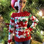 Ugly Xmas Sweater - Red por Cozy Couture