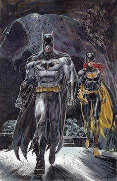 Drawing Dc Comics Batman and Batgirl by Ardian Syaf * Más - Batman And Batgirl, Batman And Superman, Batman Robin, Spiderman, Batman Girl, Batman Superhero, Batman Stuff, Batman Arkham, Batwoman