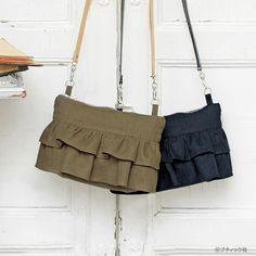 ポーチにもなるポシェット!2wayのかわいいフリルのミニバッグの作り方(バッグ) | ぬくもり