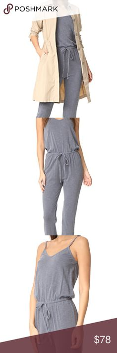 Sundry drawstring jumpsuit Sundry drawstring jumpsuit in a beautiful gray color. This jumpsuit is super cute and can be dressed up with a pair of heels or down with a pair of sneakers. I bought this piece on shopbop last summer, and never got to wear it. It is new with tags attached. Sundry Pants Jumpsuits & Rompers
