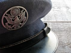 vintage air force uniform hat   wool enlisted mans military armed forces by  24pont.  35.00 071aaff17e7