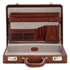 Hard leather briefcases