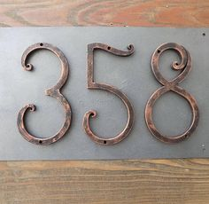 House Number /Black copper / Iron House Numbers 5 inch/Door Numbers / Metal house number/Address numbers/Sign Flat Room Number /Rustic decor