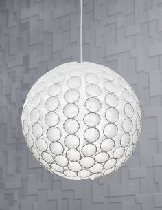 paper cup pendant light