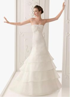 ELEGANT SATIN ORGANZA SATIN A-LINE STRAPLESS NECKLINE WEDDING DRESS WITH BOWKNOT LACE BRIDESMAID PARTY COCKTAIL GOWN