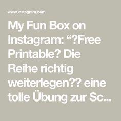"""My Fun Box on Instagram: """"🖨Free Printable🖨 Die Reihe richtig weiterlegen☺️ eine tolle Übung zur Schulung der visuelleen Wahenehmung und auch erste Mathematische…"""""""