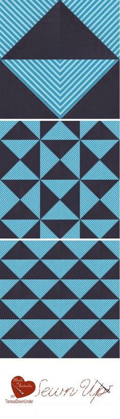 Video tutorial: exploring striped fabric and half square triangles (HST)