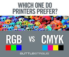SHOULD I DESIGN WITH CMYK OR RGB? Find out: http://www.suttle-straus.com/blog/should-i-design-with-cmyk-or-rgb