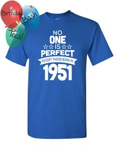 65 Year Old Birthday Shirt No One is Perfect by BirthdayBashTees