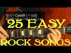 25 SUPER EASY Rock Songs for Beginner Guitar Players! ( Part 1 of 3 ) by...