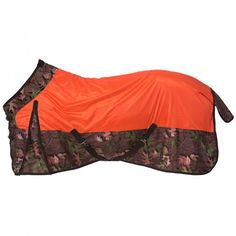 Deluxe Mesh Fly Sheet in Tough Timber print - Made of strong, breathable mesh with nylon fabric Tough Timber print trim. Double buckle front closures, adjustable surcingle belly, adjustable and replaceable leg straps with elastic, fleece wither protection, tail flap, and shoulder gussets.