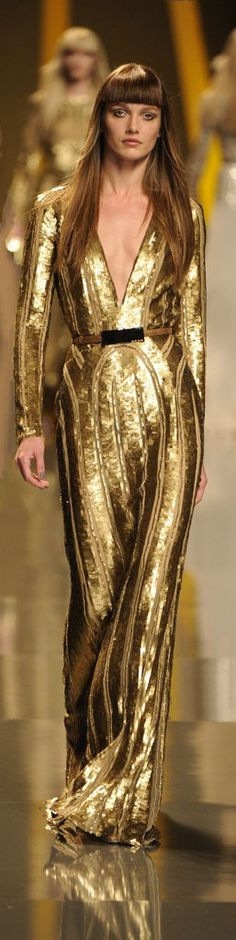 Elie Saab Gold Gown