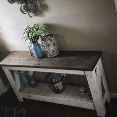 Sofa table/ entry table/ entertainment by ThePrettyFarmhouseCo