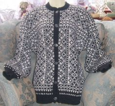 Items similar to Vintage VOSS Wool Cardigan on Etsy Knitting Charts, Knitting Patterns, Norwegian Knitting, Fair Isle Pattern, Wool Cardigan, Timeless Classic, Knit Crochet, Knit Scarves, Sweaters