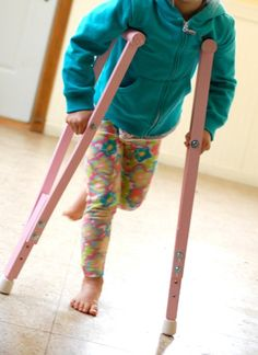 Child's Lavender Play Crutches Girls Fun for Kids