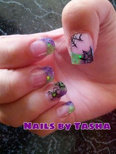 green/purple halloween - Nail Art Gallery nailartgallery.nailsmag.com by nailsmag.com