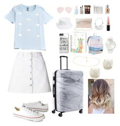 """""""Dreamer"""" by madolyn02 ❤ liked on Polyvore featuring Miss Selfridge, Converse, Amici Accessories, CalPak, Kate Spade, JanSport, Charlotte Russe, Frends, RumbaTime and MAC Cosmetics"""