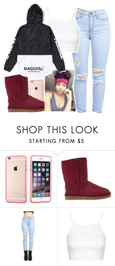 """""""Untitled #185"""" by khanyajane on Polyvore featuring UGG Australia and Topshop"""