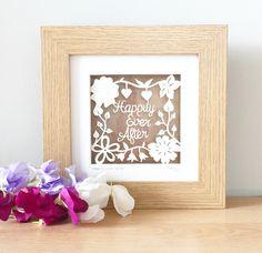 Happily Ever After ❤️❤️❤️ https://www.etsy.com/uk/listing/245535462/original-papercut-framed-papercut