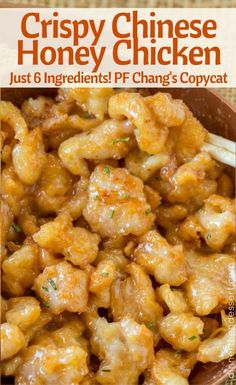 SUPER CRISPY Chinese Honey Chicken just like P.F. Chang's!