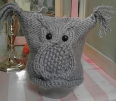 Baby Owl Hat Knitting Pattern Free : 1000+ images about Owl cable patterns on Pinterest Knitted owl, Owl hat and...