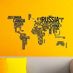Vinyl Wall Decals World Map Country Quotes Decal Sticker Home Decor Art Mural Z615 WisdomDecalHouse http://www.amazon.com/dp/B00PLXYKFM/ref=cm_sw_r_pi_dp_d3Izub0JPX7V1