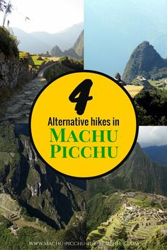 4 alternatives hikes in Machu Picchu! Got no tickets for Huayna Picchu? This is what you can do to see the famous Inca ruins in Peru form above. Click for all the cheap and easy alternatives.