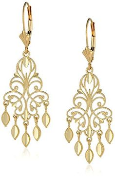 Yellow Gold Chandelier Earrings, This pair of yellow gold earrings present a classic chandelier style that will polish off any fancy outfit with Gold Chandelier Earrings, Beaded Earrings, Gold Necklace, Drop Earrings, Gold Earrings, Jewelry Trends, Bracelet Set, Diamond Cuts, Jewelry Collection