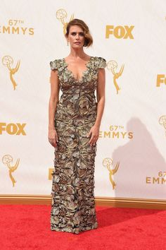 Amy Landecker at the 2015 Emmys. See what all the stars wore to the ceremony.