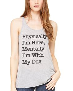 Women's | I'm With My Dog | Ideal Tank Top
